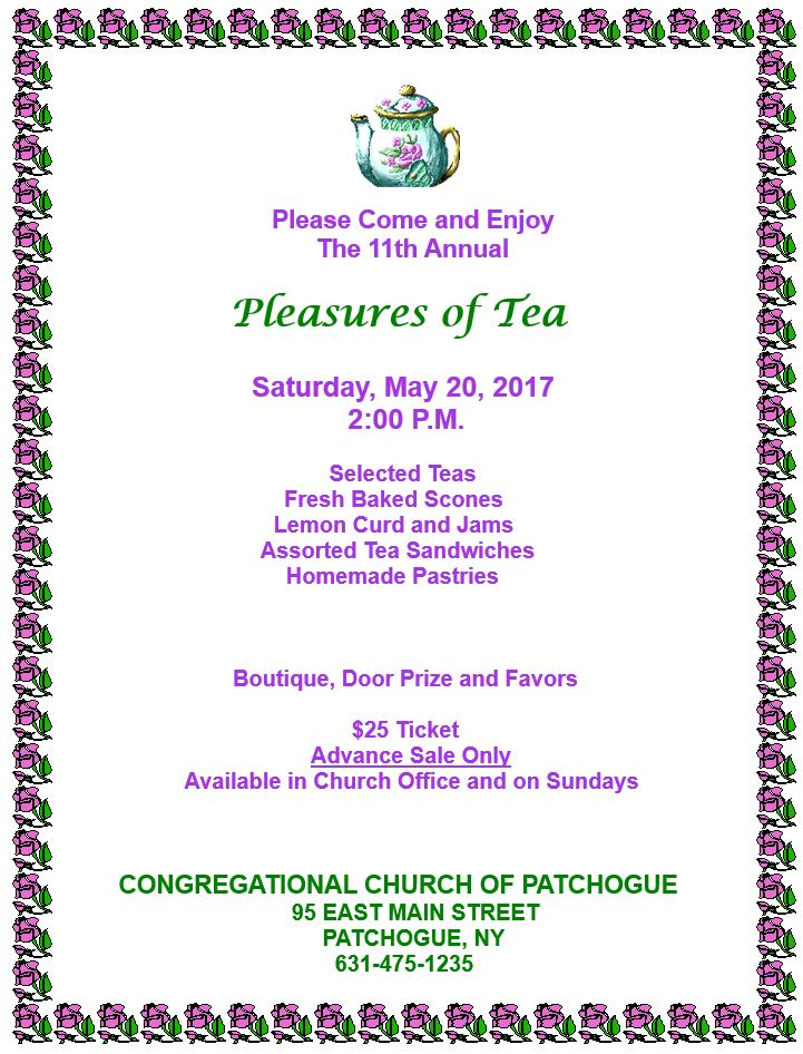 Annual Pleasures of Tea @ The Congregational Church of Patchogue | Patchogue | New York | United States